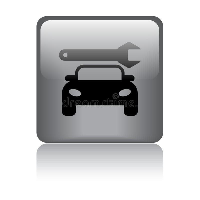 Samochód ikony sieci usługowy guzik ilustracji