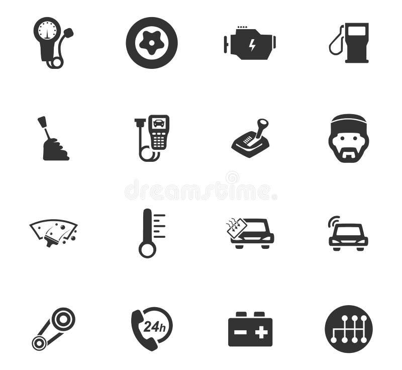 Samochód ikony Usługowy set ilustracja wektor