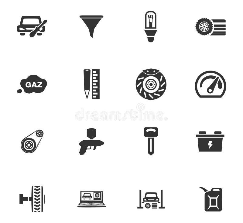 Samochód ikony Usługowy set ilustracji