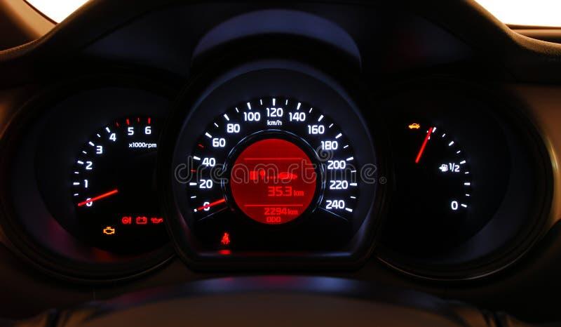 Samochód iluminująca deska rozdzielcza obraz royalty free