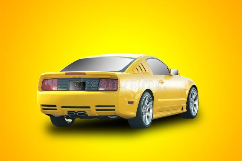 samochód imprezuj żółty obraz royalty free