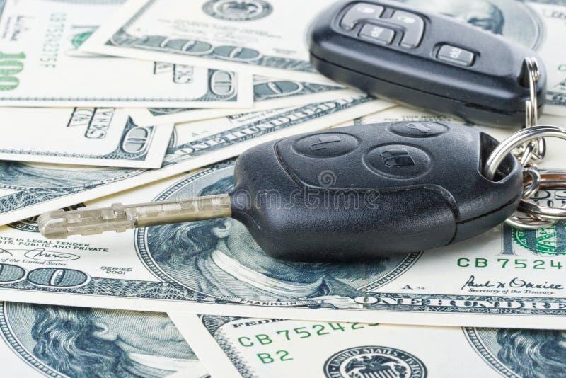 samochód klucza pieniądze obraz stock