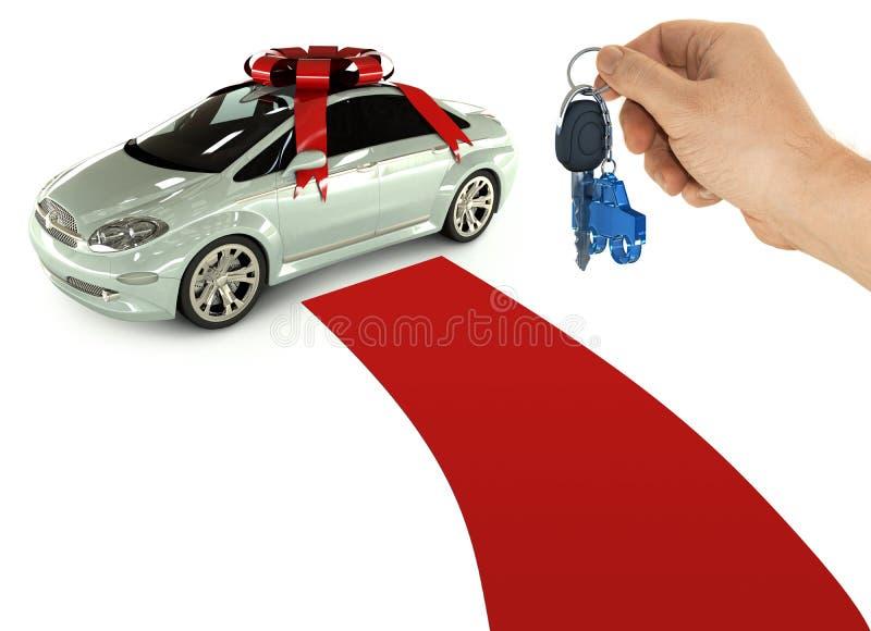 samochód klucza prezent ilustracja wektor