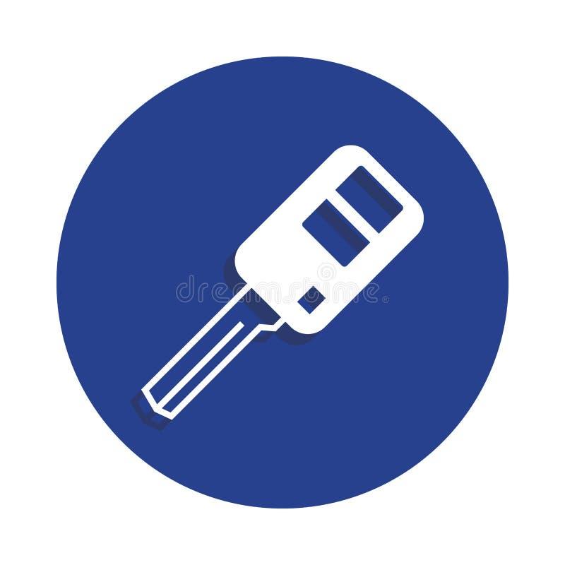 samochód kluczowa ikona w odznaka stylu Jeden samochód naprawy inkasowa ikona może używać dla UI, UX ilustracji