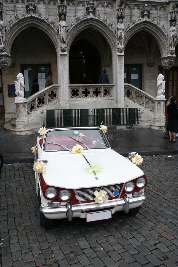 samochód na ślub obrazy stock