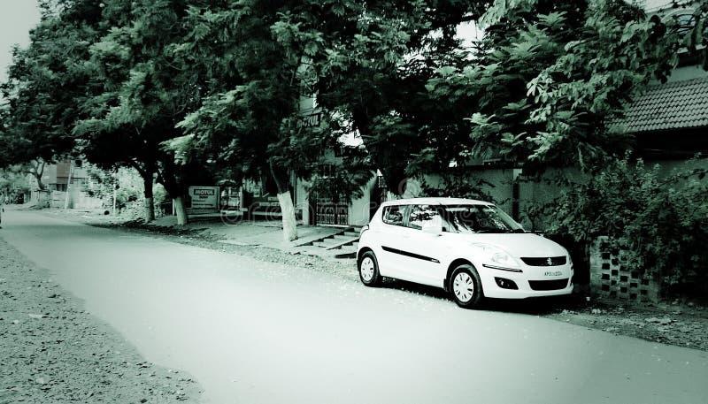 Samochód na drodze obrazy royalty free
