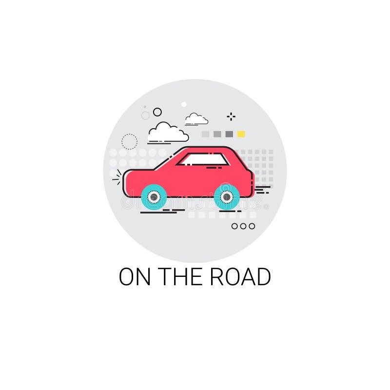 Samochód Na Drogowej wycieczki turysycznej turystyki transportu ikonie ilustracji