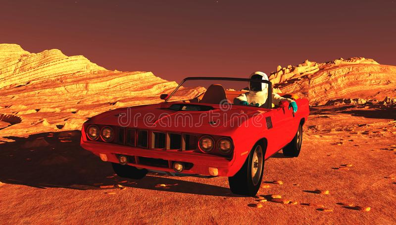 Samochód na Mars ilustracji