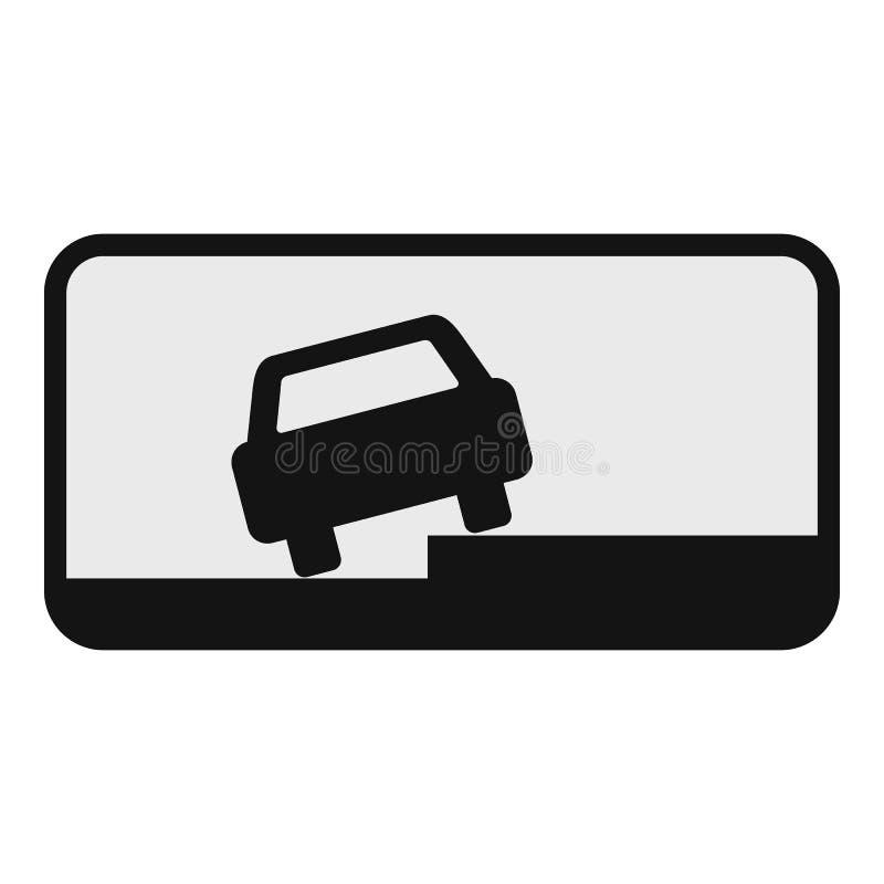 Samochód na pobocze ikonie, mieszkanie styl ilustracji