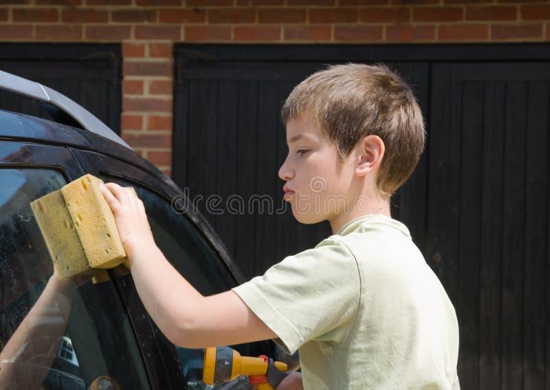 samochód na zewnątrz domycia zdjęcia stock
