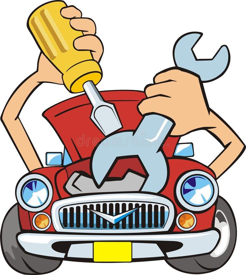 samochód naprawa ilustracji