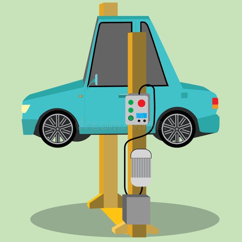 Samochód naprawa samochód podnoszący royalty ilustracja