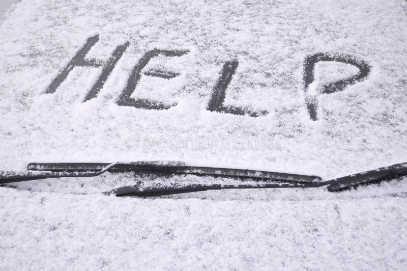 samochód objętych śnieg szyby przedniej obrazy stock
