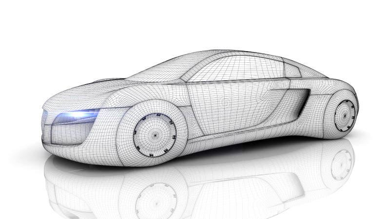 Samochód od przyszłości ilustracja wektor