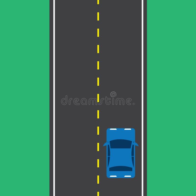 Samochód Odgórna droga ilustracji