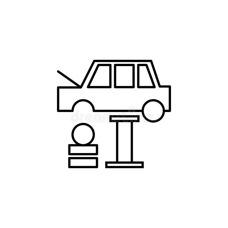 Samochód, opona, zmiana konturu ikona Może używać dla sieci, logo, mobilny app, UI, UX royalty ilustracja