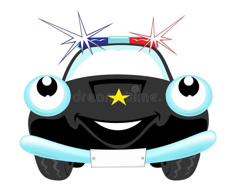 samochód policja ilustracji