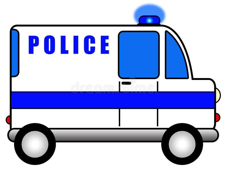 Samochód policyjny royalty ilustracja