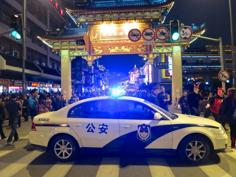 Samochód Policyjny Z świateł Błysnąć Obraz Stock Editorial
