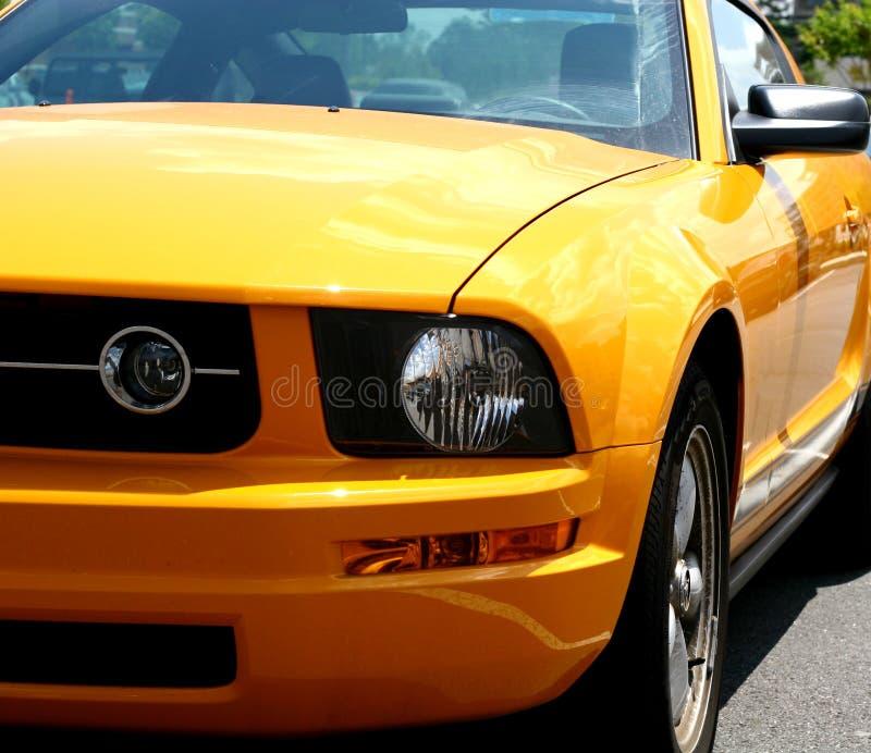 samochód pomarańcze sportu zdjęcia stock