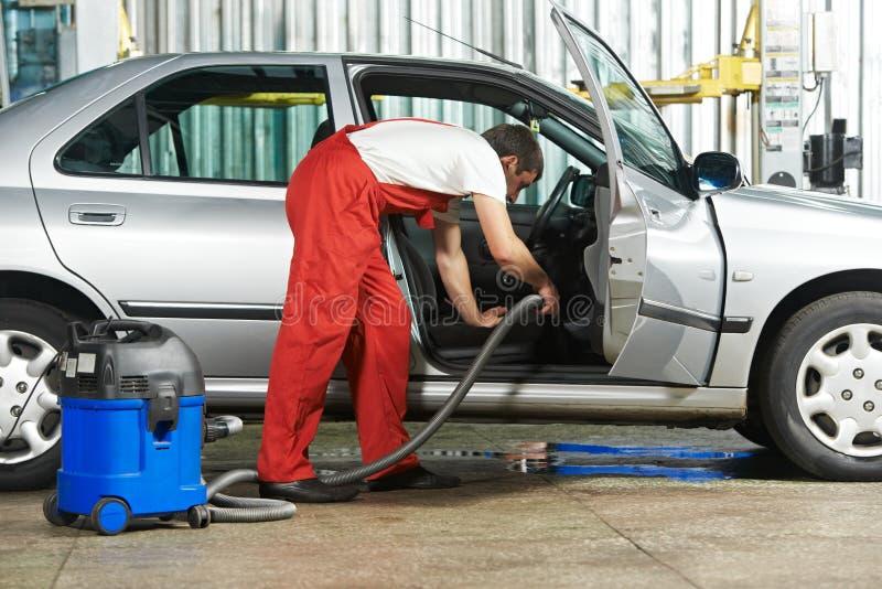 Samochód próżnia czyścić usługa czyścić obrazy stock