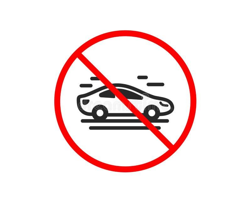 Samochód przewieziona ikona Transportu pojazdu znak wektor royalty ilustracja