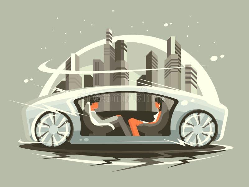 Samochód przyszłość royalty ilustracja