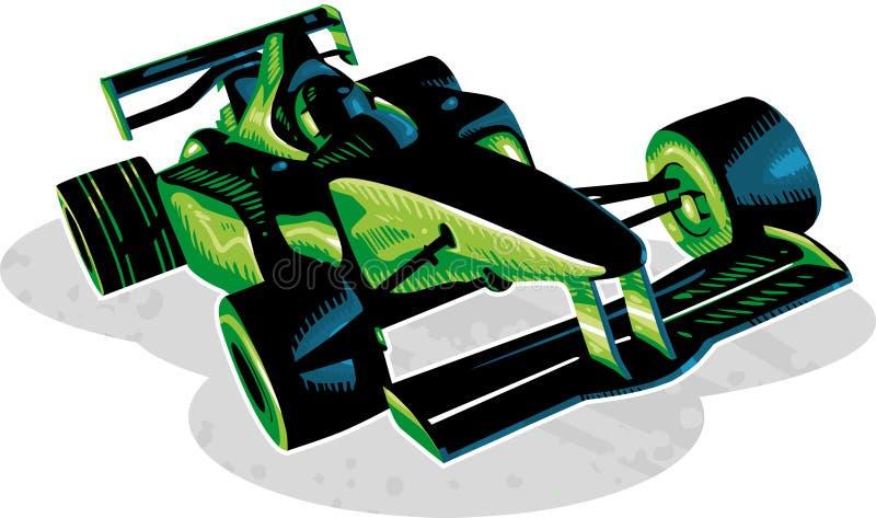 samochód rasa f1 ilustracji