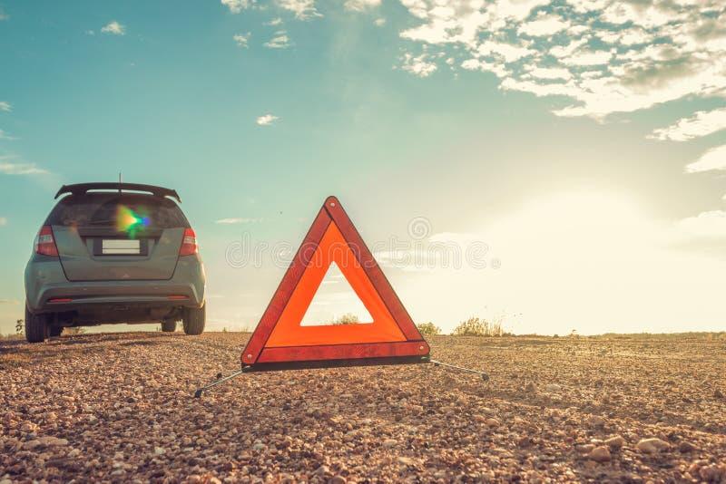 Samochód ratunkowy, stresujący nastrój w godzinach wieczornych zdjęcia stock