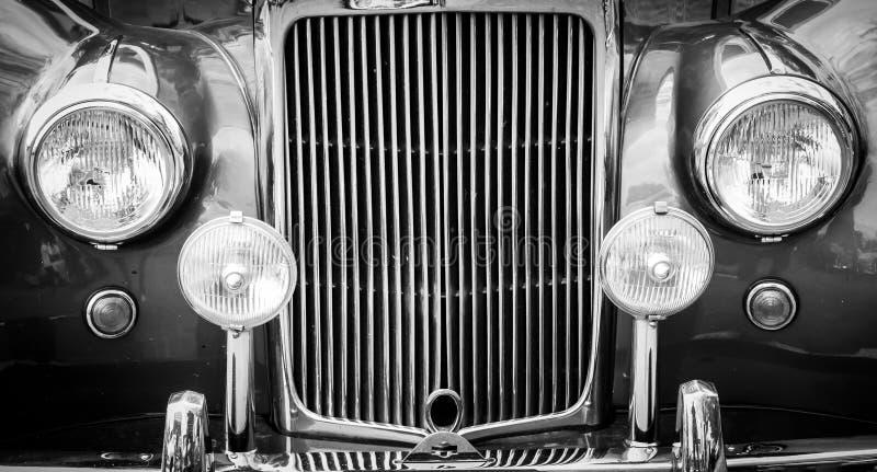 samochód reflektorów grillów rocznik obraz royalty free
