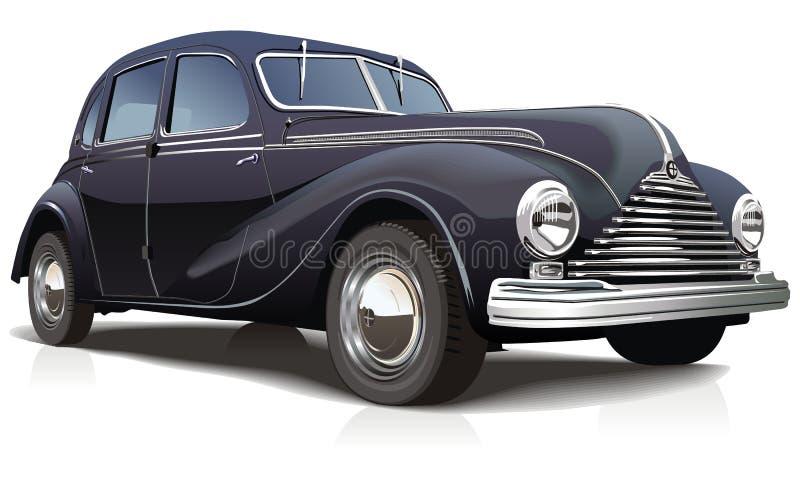 samochód retro ilustracyjny wektora royalty ilustracja