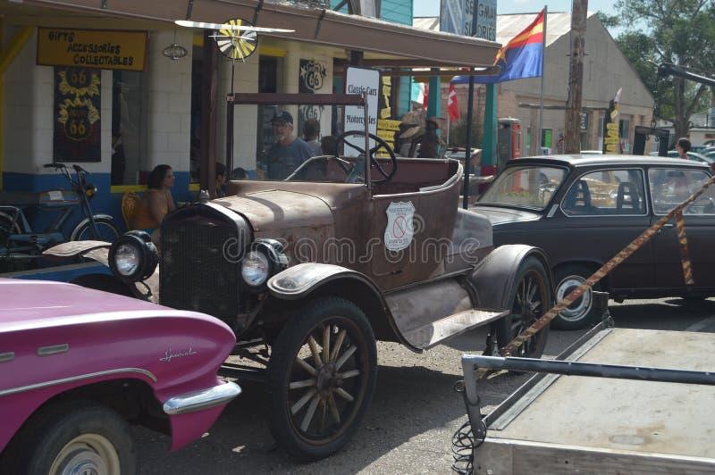 Samochód 20's W Seligman, zdjęcie royalty free