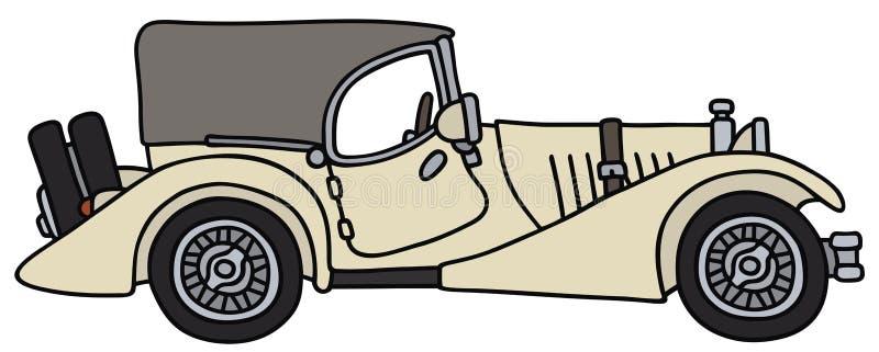 samochód samochód retro sepiowy roczne ilustracji