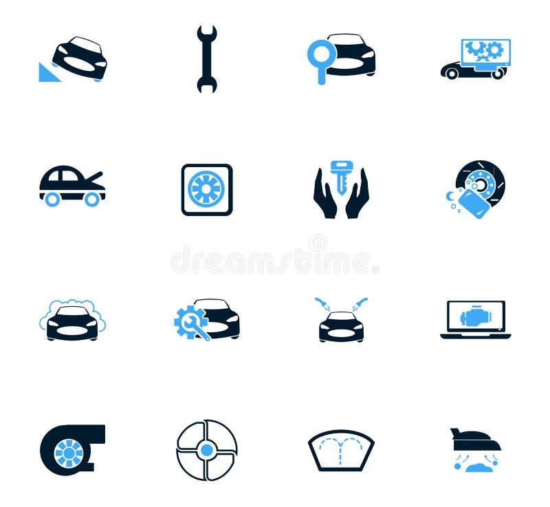 Samochód sklepowe ikony ustawiać royalty ilustracja