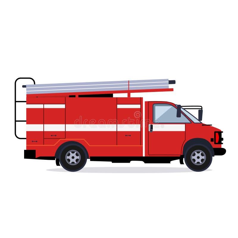 Samochód strażacki na pośpiechu royalty ilustracja
