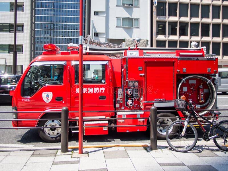 Samochód Strażacki w Tokio, Japonia fotografia royalty free