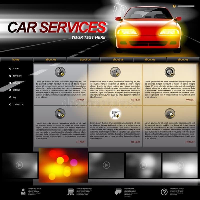 Samochód strony internetowej Usługowy szablon royalty ilustracja