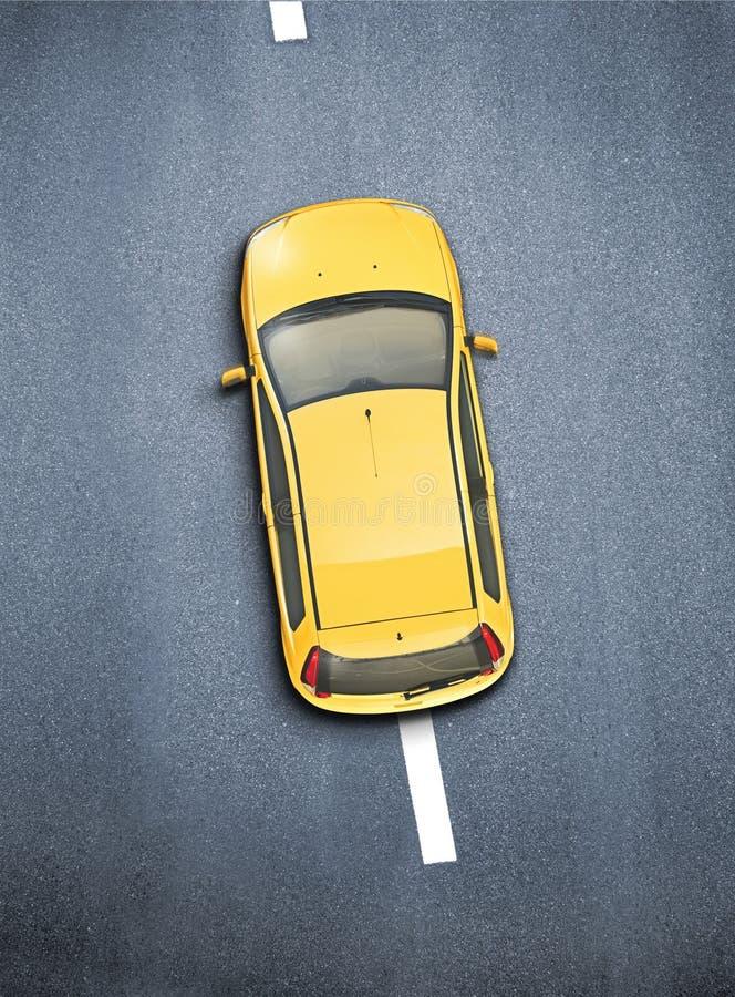 Samochód strzelający od above zdjęcia stock