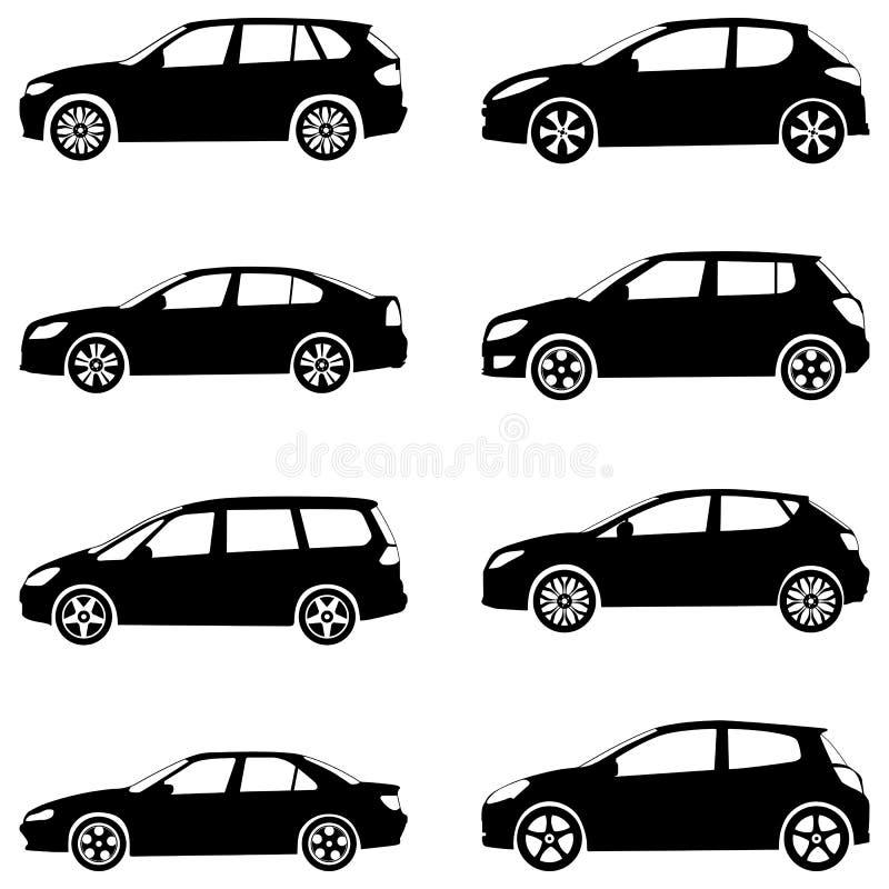 Samochód Sylwetki Set Obrazy Royalty Free
