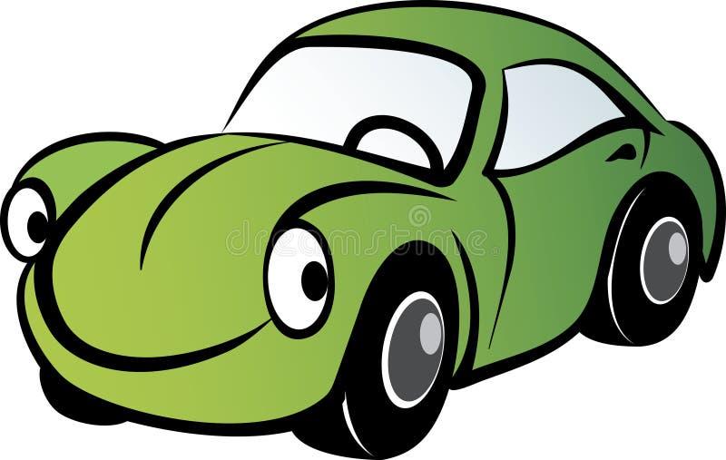 samochód szczęśliwy ilustracji