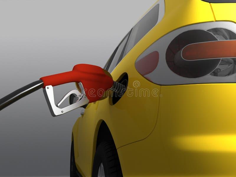 Samochód tankujący ilustracja wektor