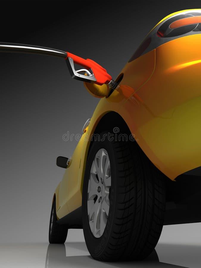 Samochód tankujący ilustracji