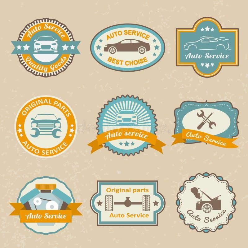 Samochód usługa etykietki royalty ilustracja