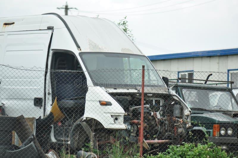 samochód uszkodzony zdjęcia royalty free