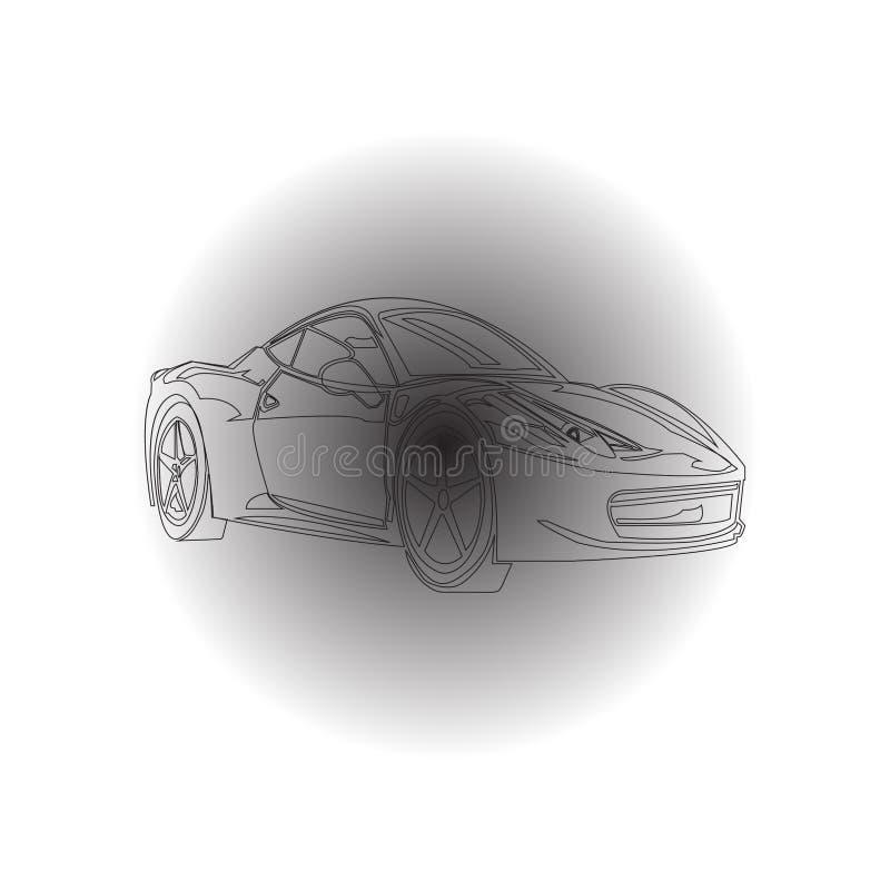 Samochód w cieniu ilustracja wektor