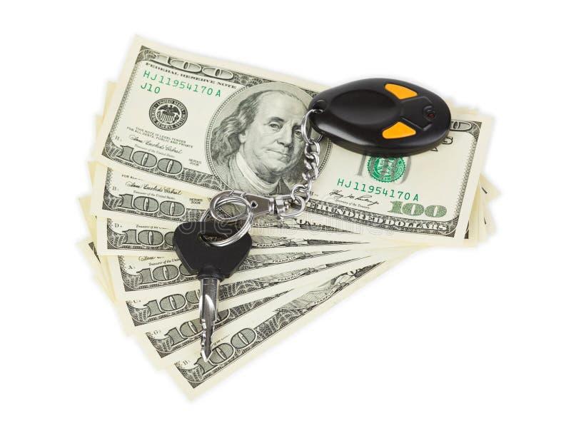 samochód wpisuje pieniądze zdjęcie royalty free