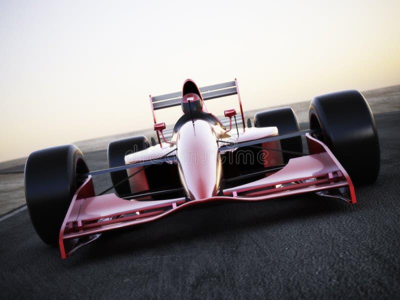 Samochód wyścigowy ściga się na śladzie obraz royalty free