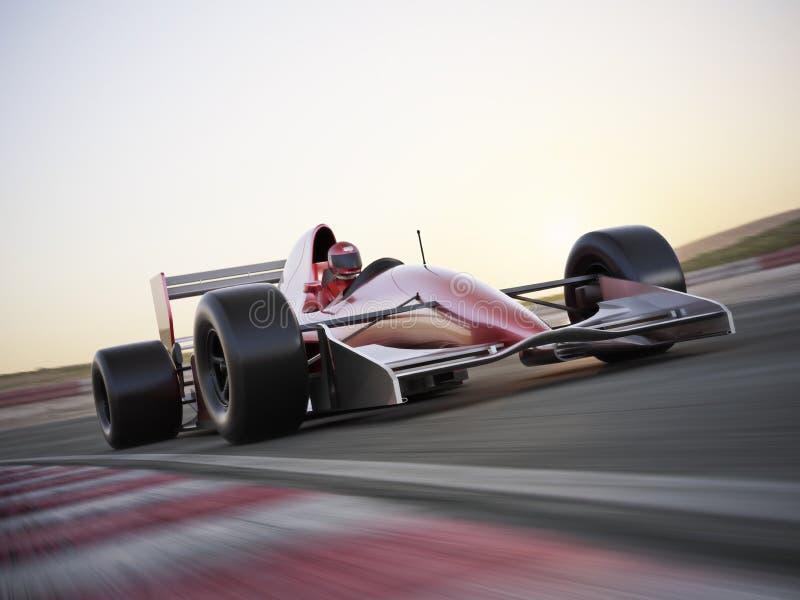 Samochód wyścigowy przy wysokim wskaźnikiem prędkość royalty ilustracja