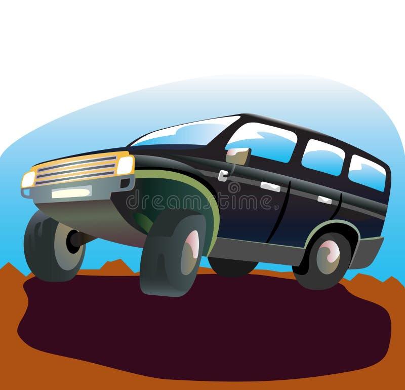 samochód z drogi royalty ilustracja