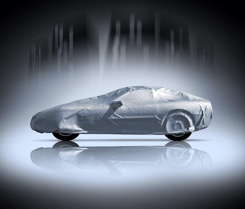 samochód zakrywający zdjęcie stock